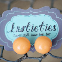 knotiegumball earrings - orange sherbert