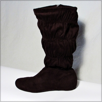 Brown Ruched Boots