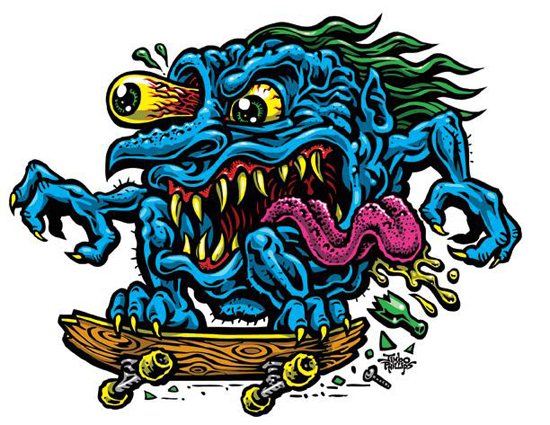 Skate Creep Sticker 183 Jimbo Phillips Webstore 183 Online
