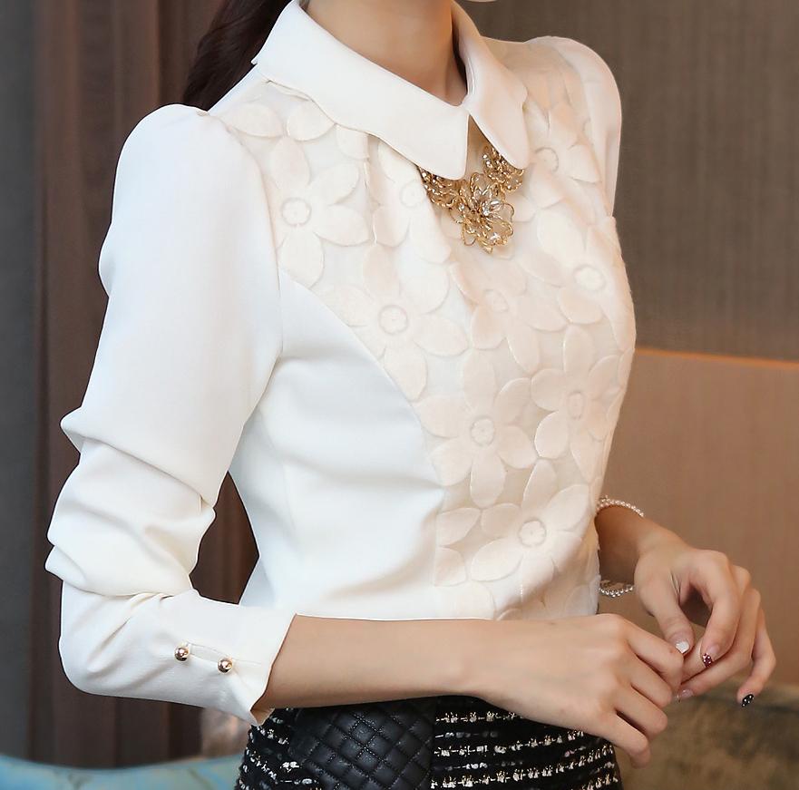 Пришить кружево к блузке