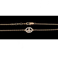 Peace Sign Bracelets - Gold