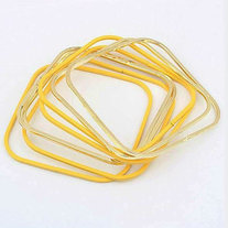 Yellow Neon Square Bangle
