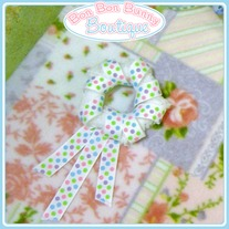 Colorful Pastel Polka Dot Shooting Star