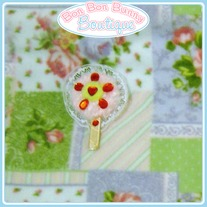 Red Rhinestone Lollipop