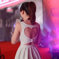 Heart Shaped Back Party Dress
