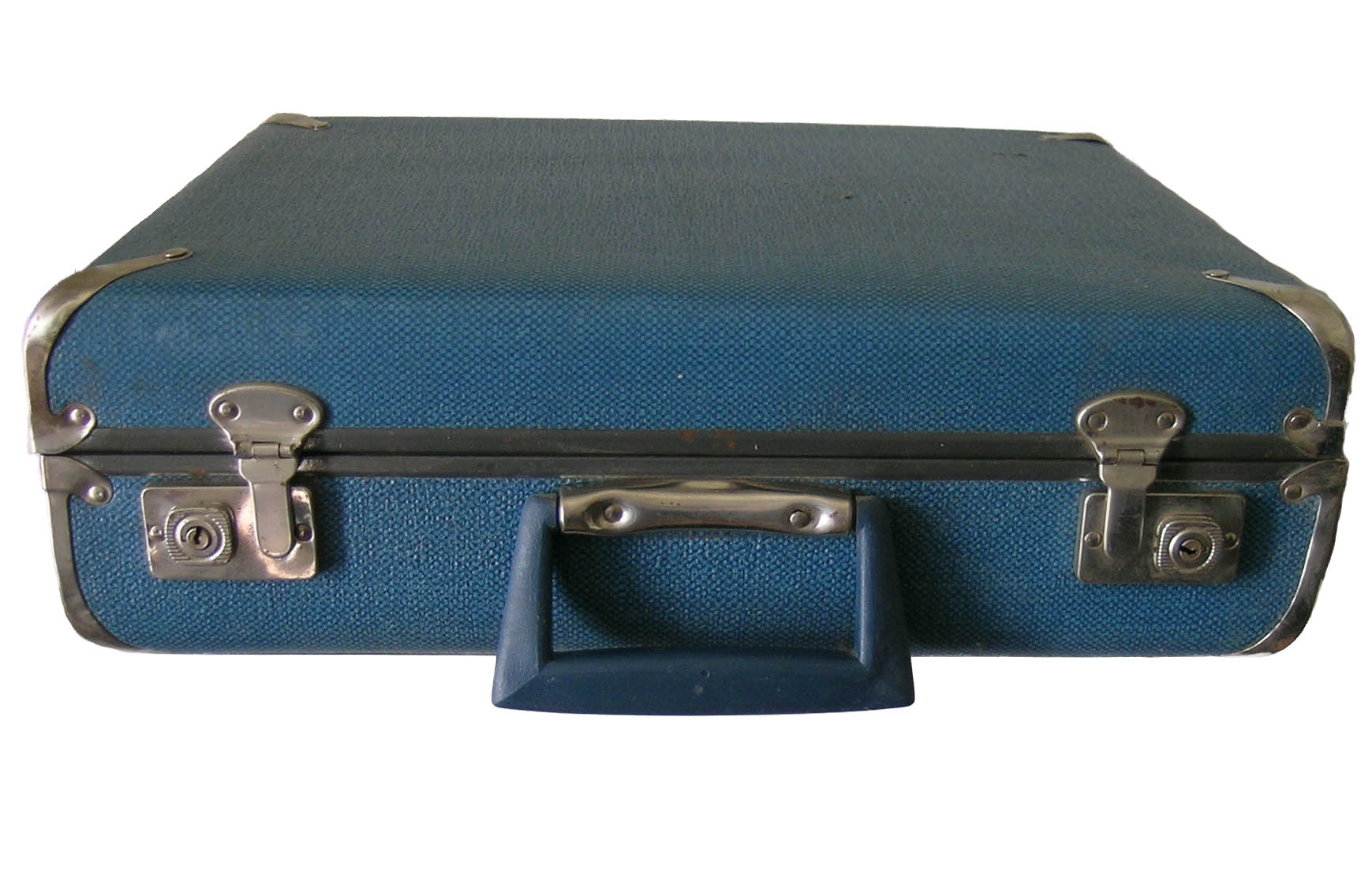 Lightweight Vintage Suitcase in Denim Blue - Perfect for Carrying ...