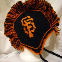 San Francisco Giants Mohawk Hat 100% Wool