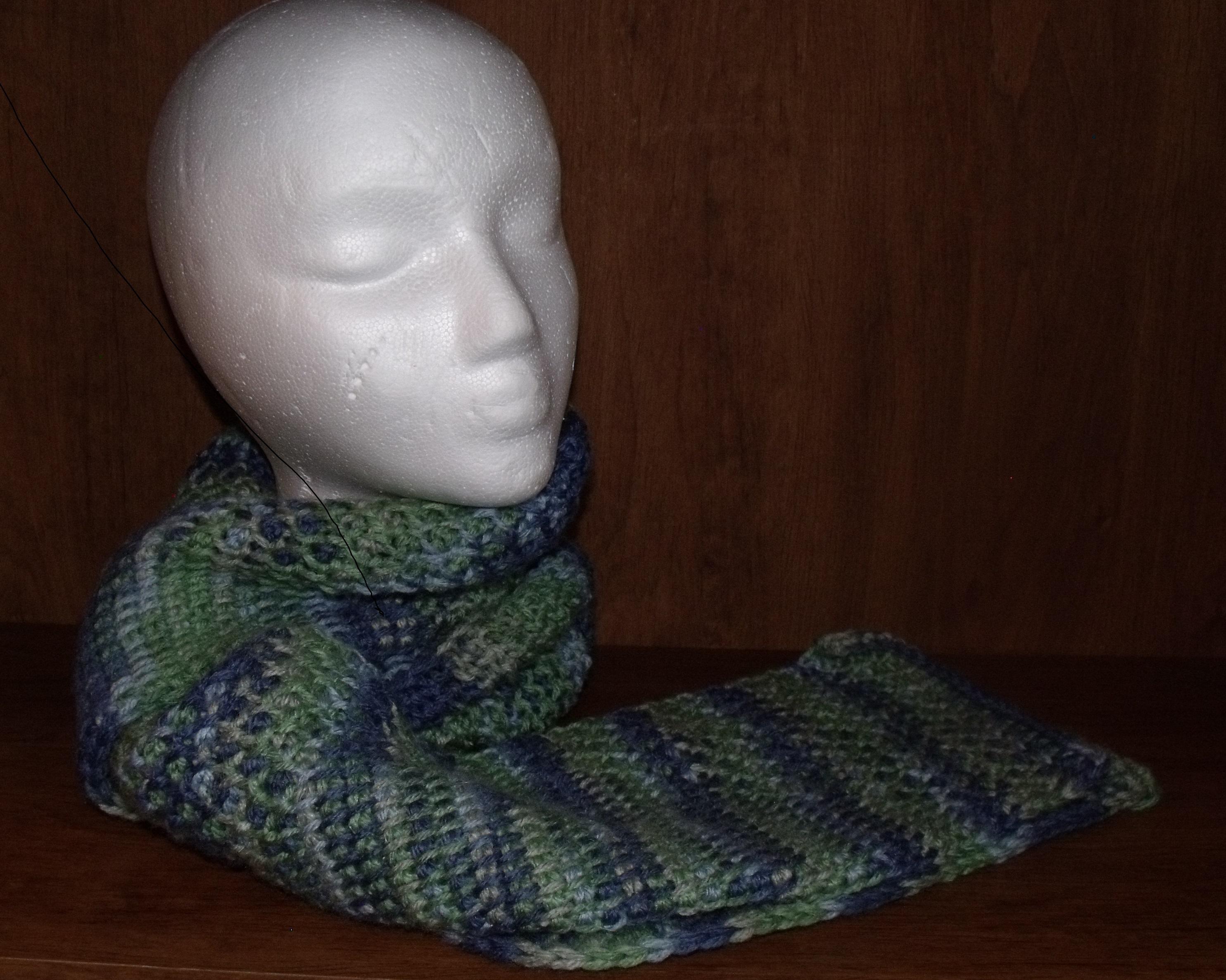 Tunisian Crochet Scarf Andromedas Fibers Art Online Store