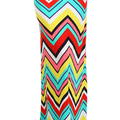 Plus size chevron print maxi skirt