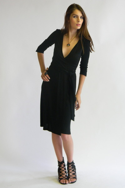wrap dress - Black Diane Von Fürstenberg Outlet Hot Sale Discount Ebay Best Selling Pay With Visa Online 2018 New Sale Online YGUUf9Q