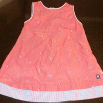 RED TOMMY HILFIGER DRESS SIZE 6-12 MONTHS