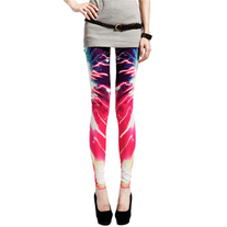 Red galaxy printed leggings