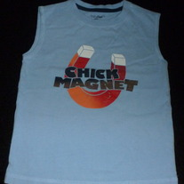 BABY GAP BLUE CHICK MAGNET TANK TOP SIZE 3T