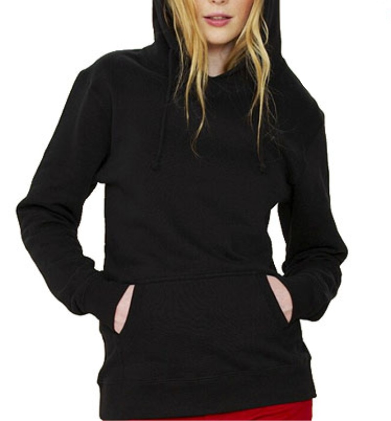 Plain Black Womens Hoodie - Hardon Clothes