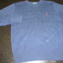 Navy Blue Sweater-Polo Ralph Lauren-Size Medium