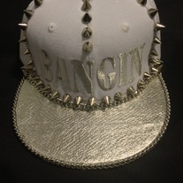 Metallic Fever:::: Metallic brim Hat w/Metallic NAME!