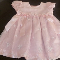 Pink Lace Dress-Bonnie Baby-Size 24 Months