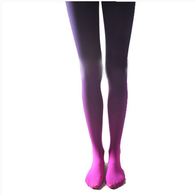 Gradient color velvet tights purple pantyhose five colors
