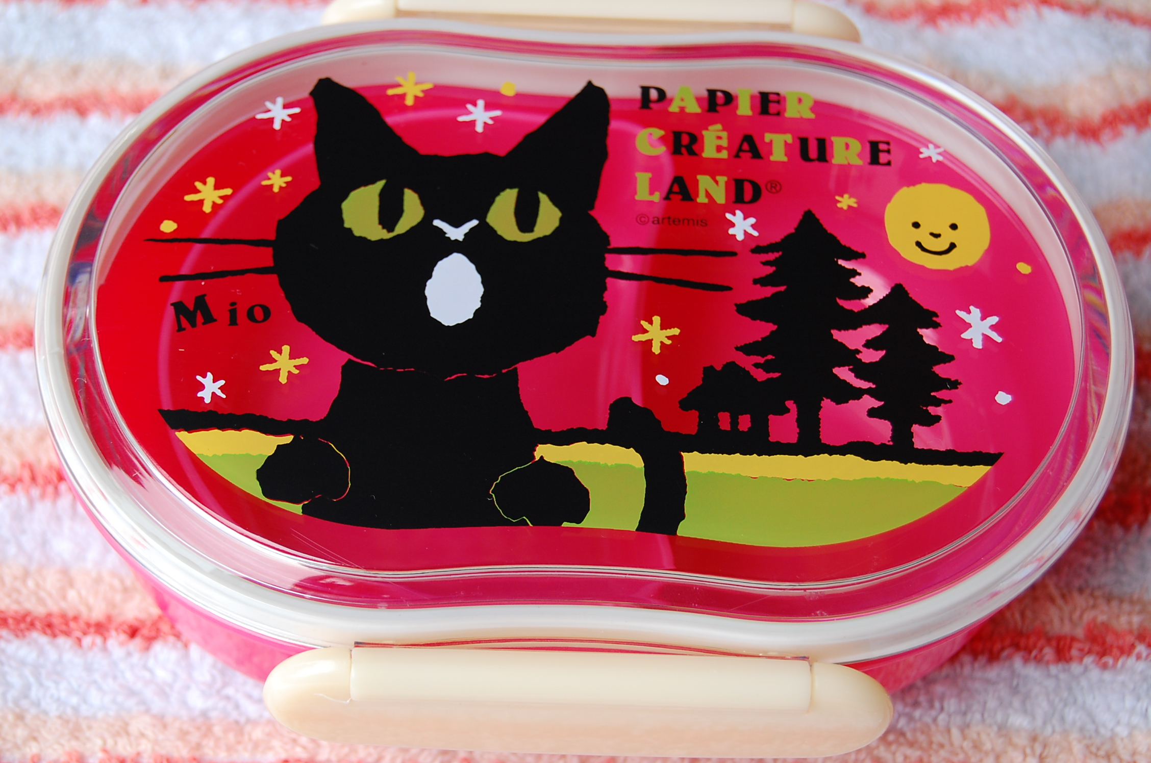 japanese lunch bento box papier mio the cat in pink free shipping thelittlebow online. Black Bedroom Furniture Sets. Home Design Ideas