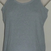 Gray Ribbed Tank Top-Motherhood Size Small