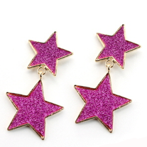 Fuschia Star Power Earrings