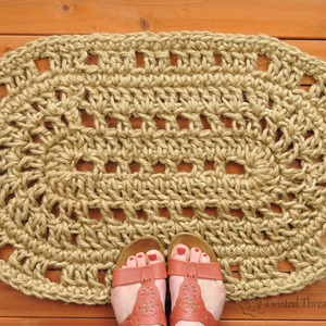 Oval Door Mat - Rope Mat - Crochet - Handmade To Order