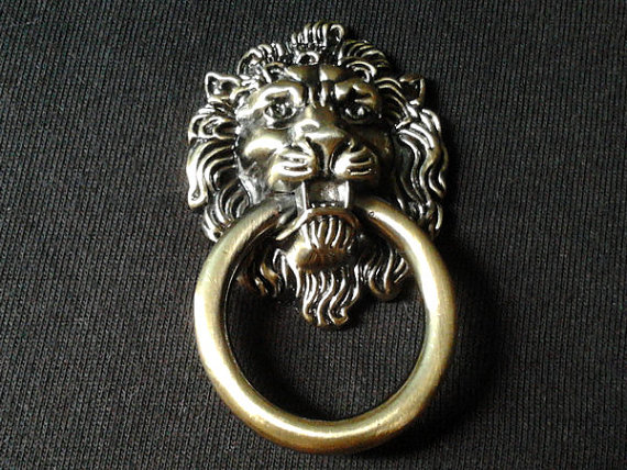 Vintage Style Dresser Pulls Drawer Knobs Handles Rings Lion Head ...