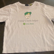 Daddy's Little Helper Shirt-John Deere Size 3T