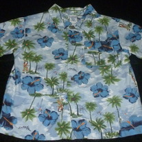 Blue Hawaiian Shirt-Gymboree Size 2T