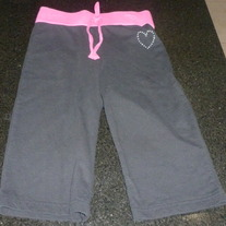 Black/Pink Gaucho Pants-Brooke and Lindsey Collection Size 8