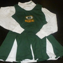 Green Bay Packers Cheerleading Outfit-Size 4T