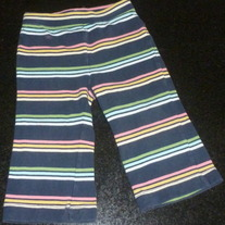 Navy Multi Color Stripe Pants-Baby Gap Size 12-18 Months