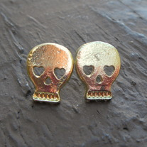 Big Gold Skull Earrings