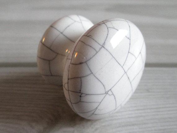 Knob Dresser Knobs Kitchen Cabinet Door Knob White Crackle Ceramic