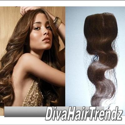 "14"" color #4 body wave top hair closure"