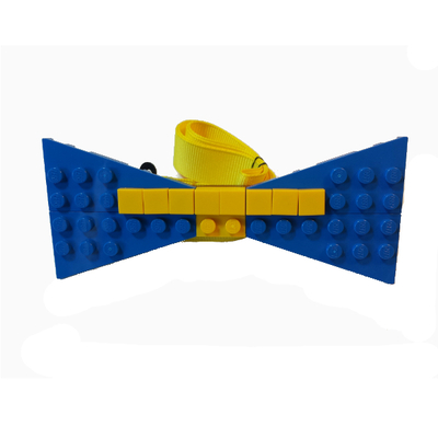 Personalized lego® bow tie  blue/yellow
