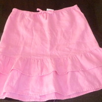 Pink Linen Skirt-Old Navy Size 8