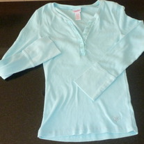 Light Blue LS Shirt-Justice Size 12