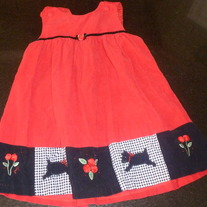 Red Corduroy Dress-Brand Unknown Size 4T