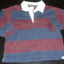 Navy/Burgundy Shirt with Collar-Baby Gap Size 2T