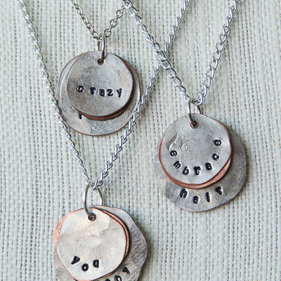 Coin necklace {quirky quotes}