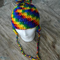 Rainbow Earflap Hat