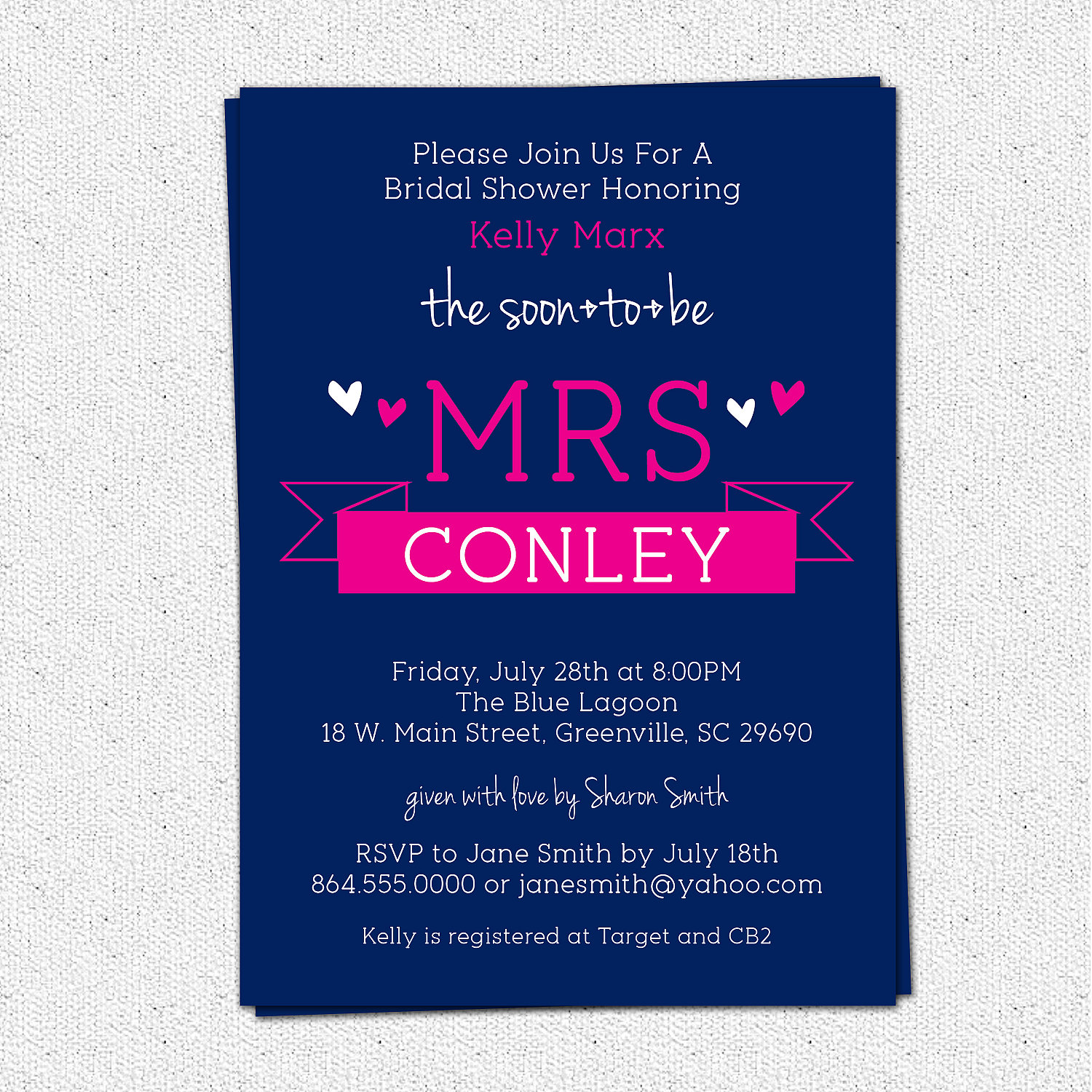 Bridal shower invitations soon to be mrs sweet banner pick your bridal shower invitations soon to be mrs sweet banner pick your color custom filmwisefo