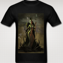 """LAKSHMI"" T Shirt for Men (Black)"