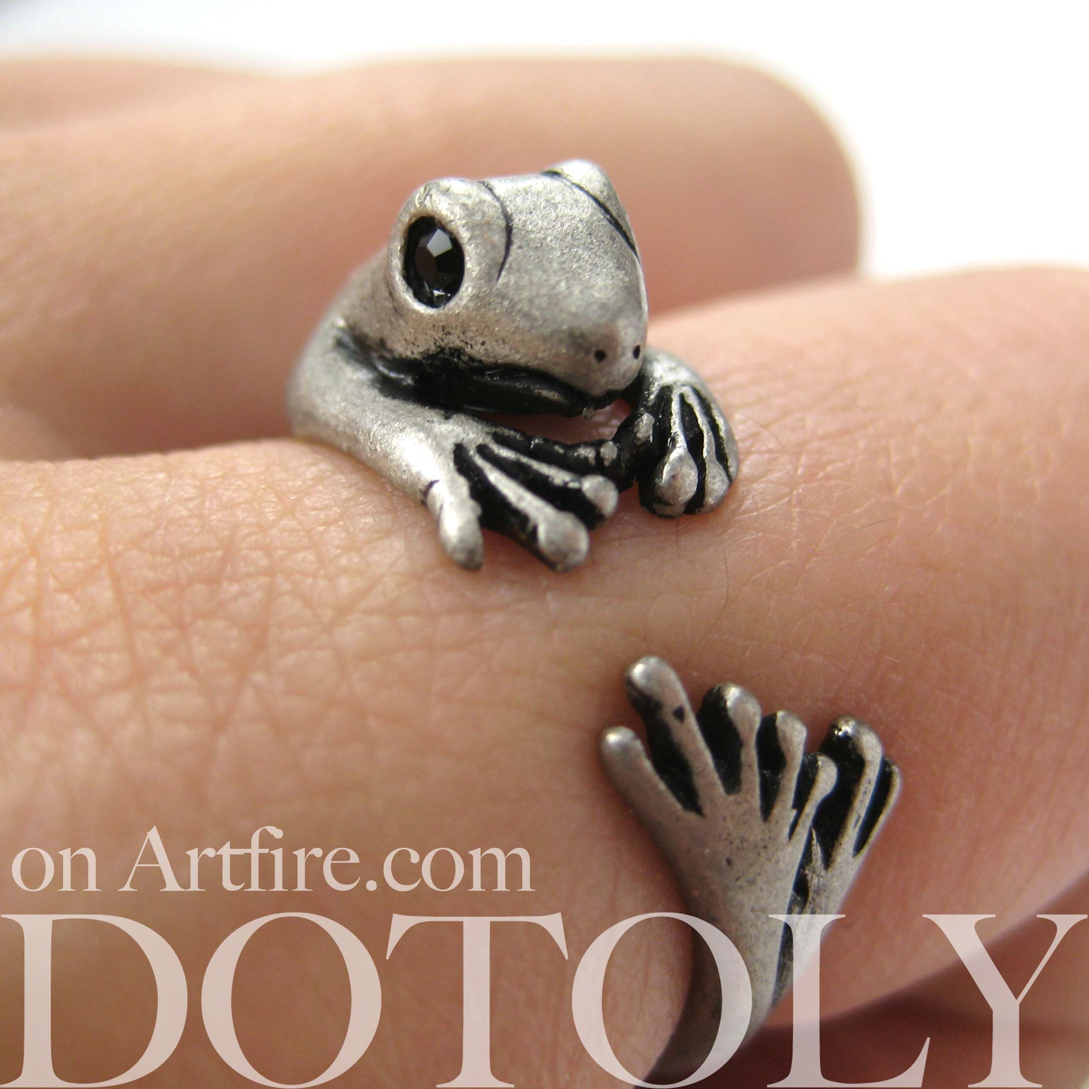 animal jewelry lizard in steel punk wedding stainless from rock gifts high item separable rings style women quality for black party men