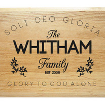 Soli Deo Gloria Family Name Plaque