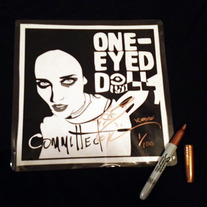"LIMITED Autographed and Bitten 6"" Committed Single Art Laminate"
