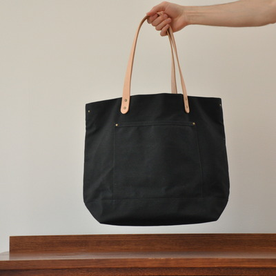 Carryall bag - black waxed canvas
