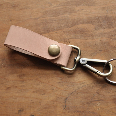 Belt key fob - natural leather