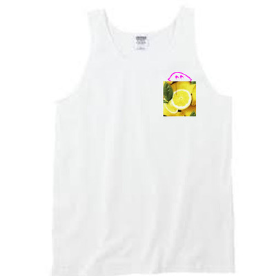 "Peek a boo ""pink lemonade"" pocket tank"
